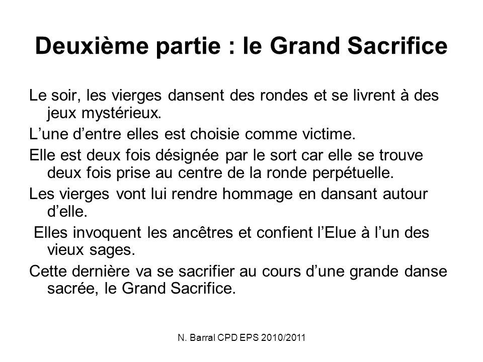 Deuxième partie : le Grand Sacrifice