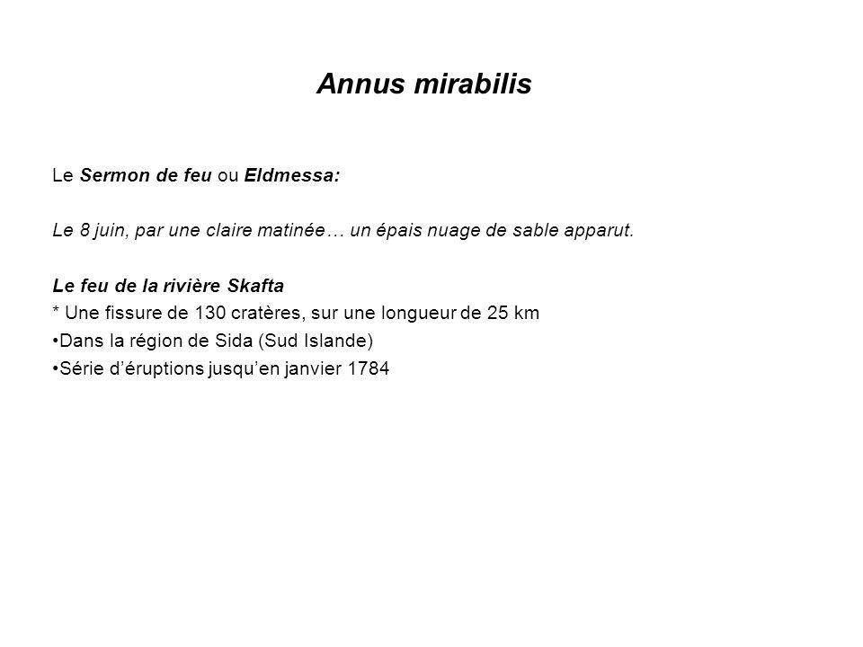 Annus mirabilis Le Sermon de feu ou Eldmessa: