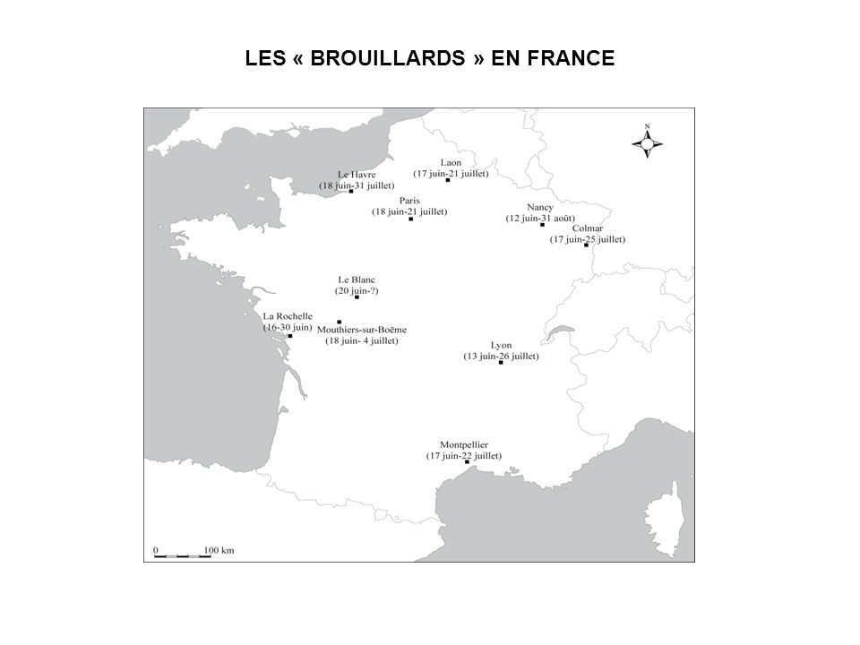 LES « BROUILLARDS » EN FRANCE