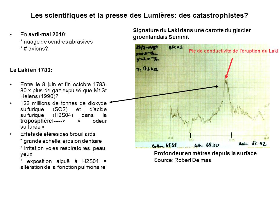 Les scientifiques et la presse des Lumières: des catastrophistes