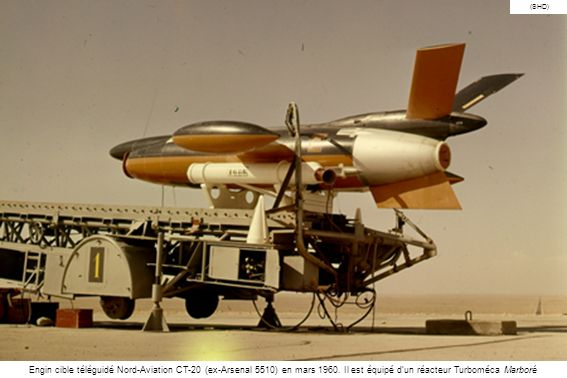 (SHD) Engin cible téléguidé Nord-Aviation CT-20 (ex-Arsenal 5510) en mars 1960.