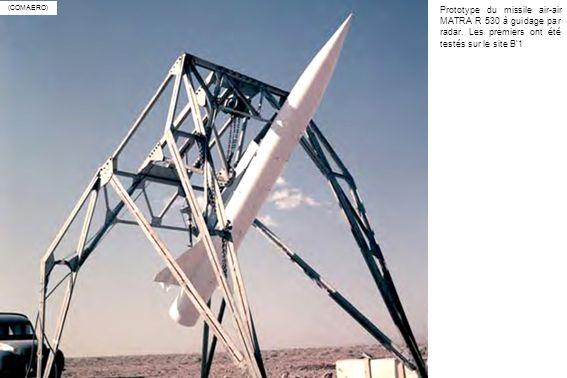 (COMAERO) Prototype du missile air-air MATRA R 530 à guidage par radar.