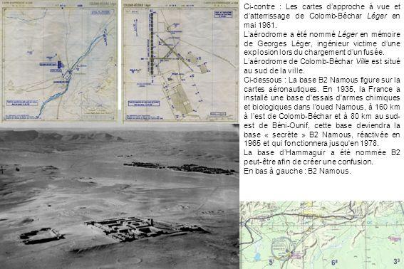 Ci-contre : Les cartes d'approche à vue et d'atterrissage de Colomb-Béchar Léger en mai 1961.