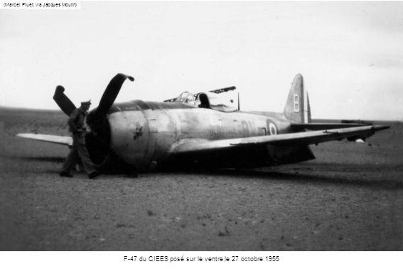 F-47 du CIEES posé sur le ventre le 27 octobre 1955