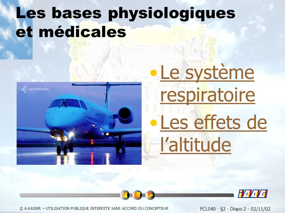 Les bases physiologiques et médicales