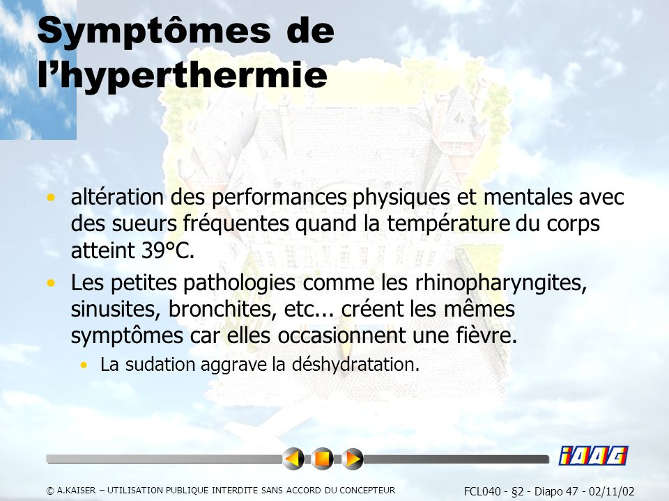 Symptômes de l'hyperthermie