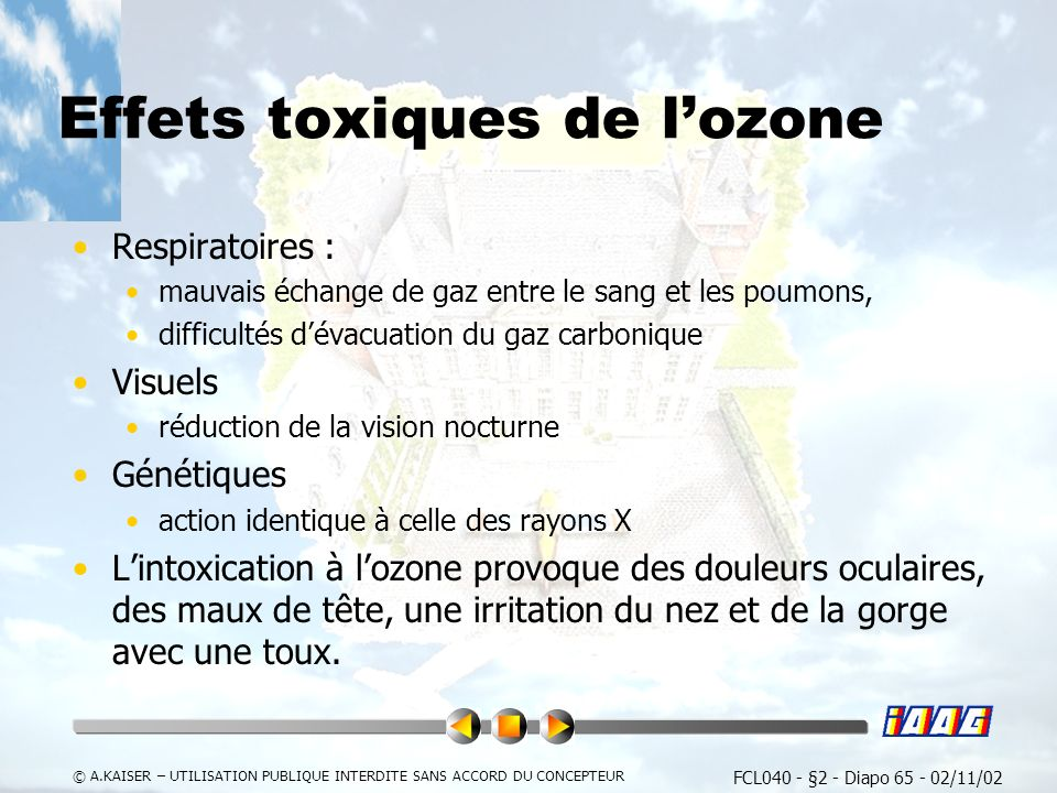 Effets toxiques de l'ozone