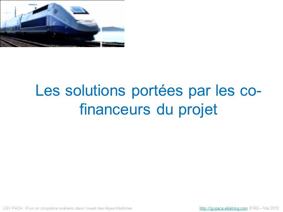 Les solutions portées par les co-financeurs du projet