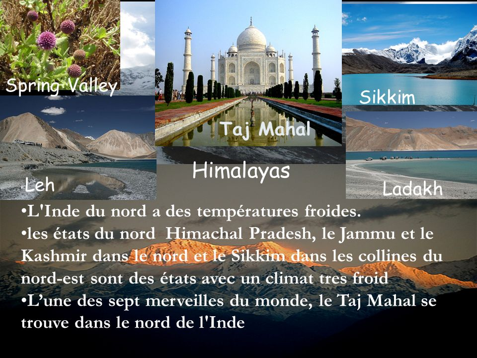 Himalayas Spring Valley Sikkim Taj Mahal Leh Ladakh