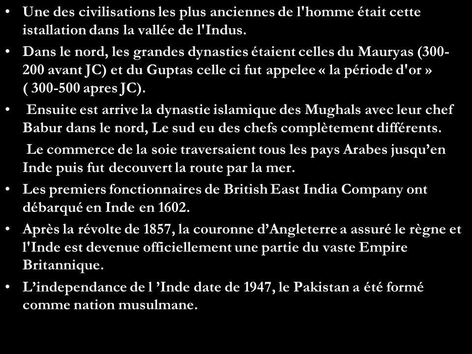Une des civilisations les plus anciennes de l homme était cette istallation dans la vallée de l Indus.