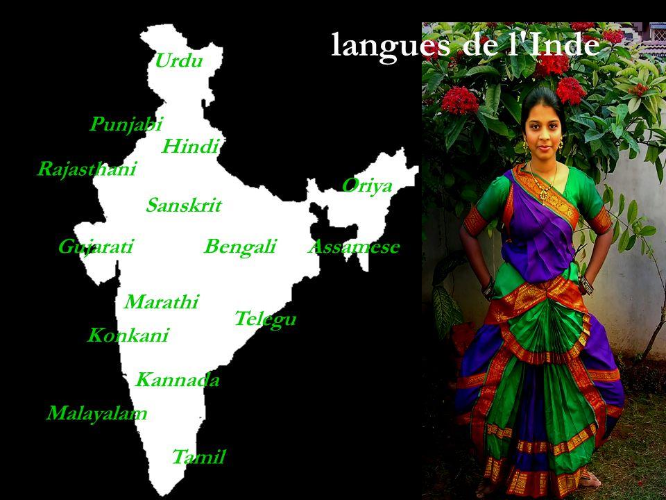langues de l Inde Urdu Punjabi Hindi Rajasthani Oriya Sanskrit