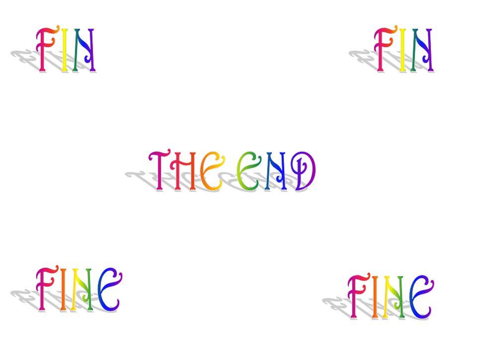 FIN FIN THE END FINE FINE