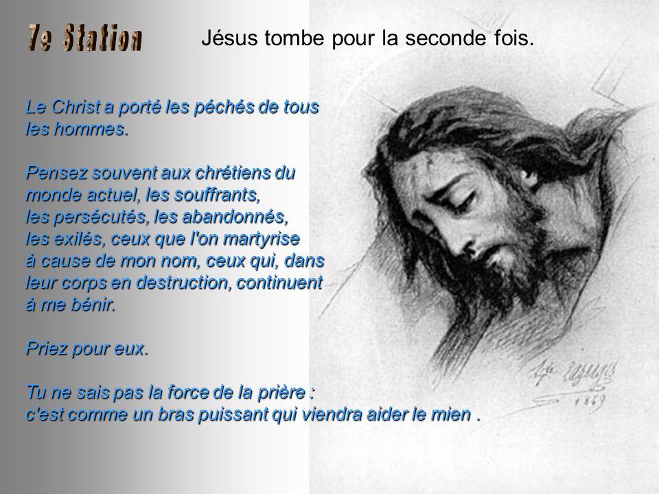 Jésus tombe pour la seconde fois.