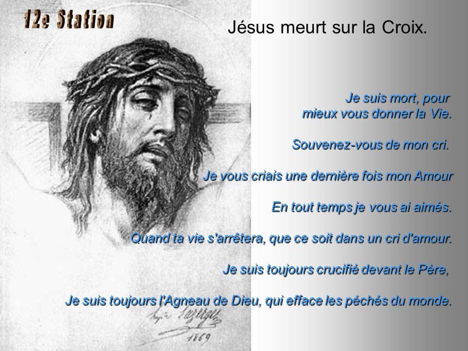 Jésus meurt sur la Croix.
