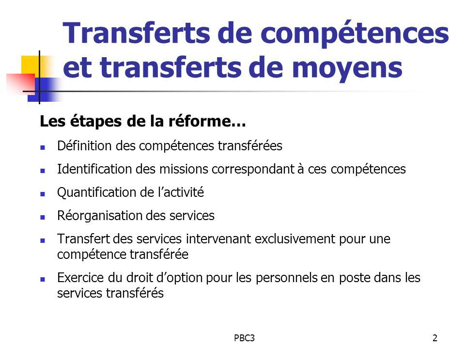 Transferts de compétences et transferts de moyens