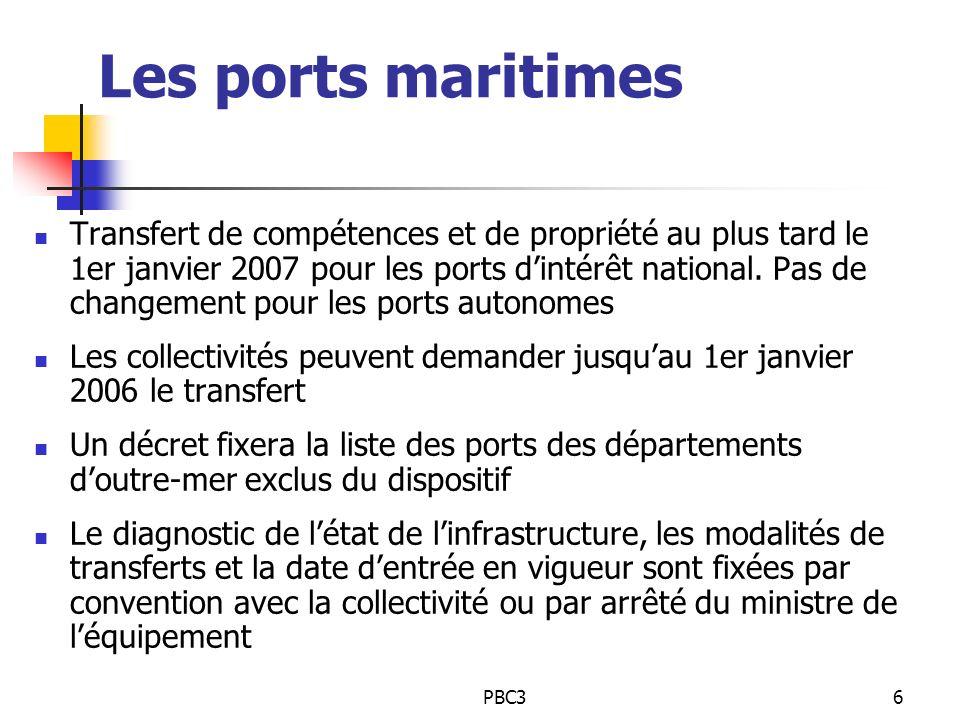 Les ports maritimes