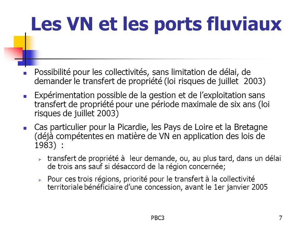 Les VN et les ports fluviaux