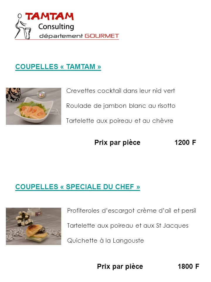 COUPELLES « SPECIALE DU CHEF »