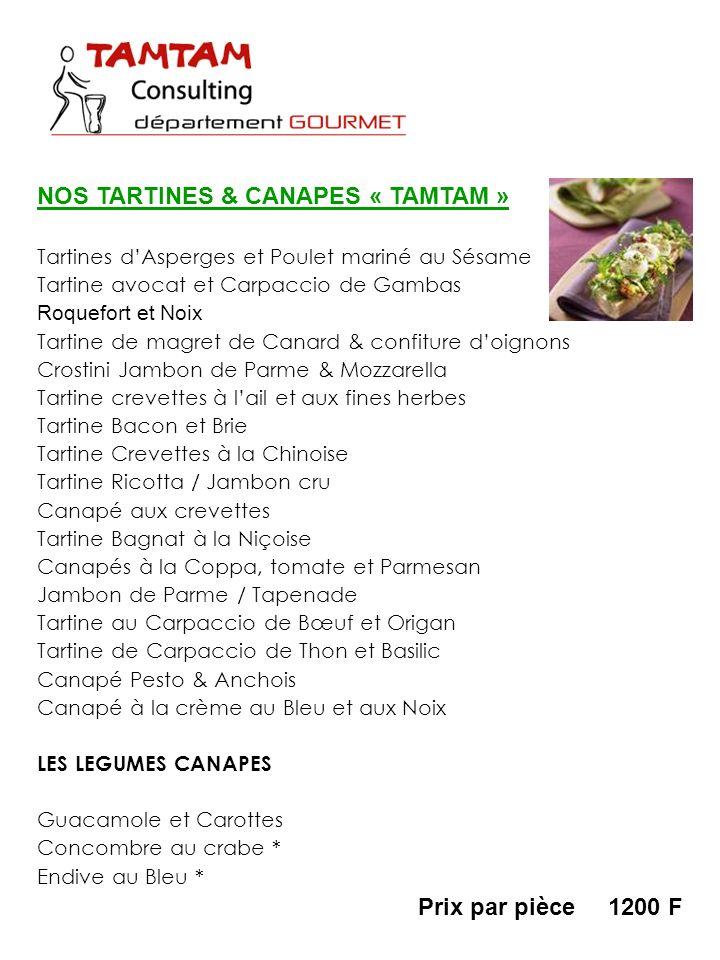 NOS TARTINES & CANAPES « TAMTAM »