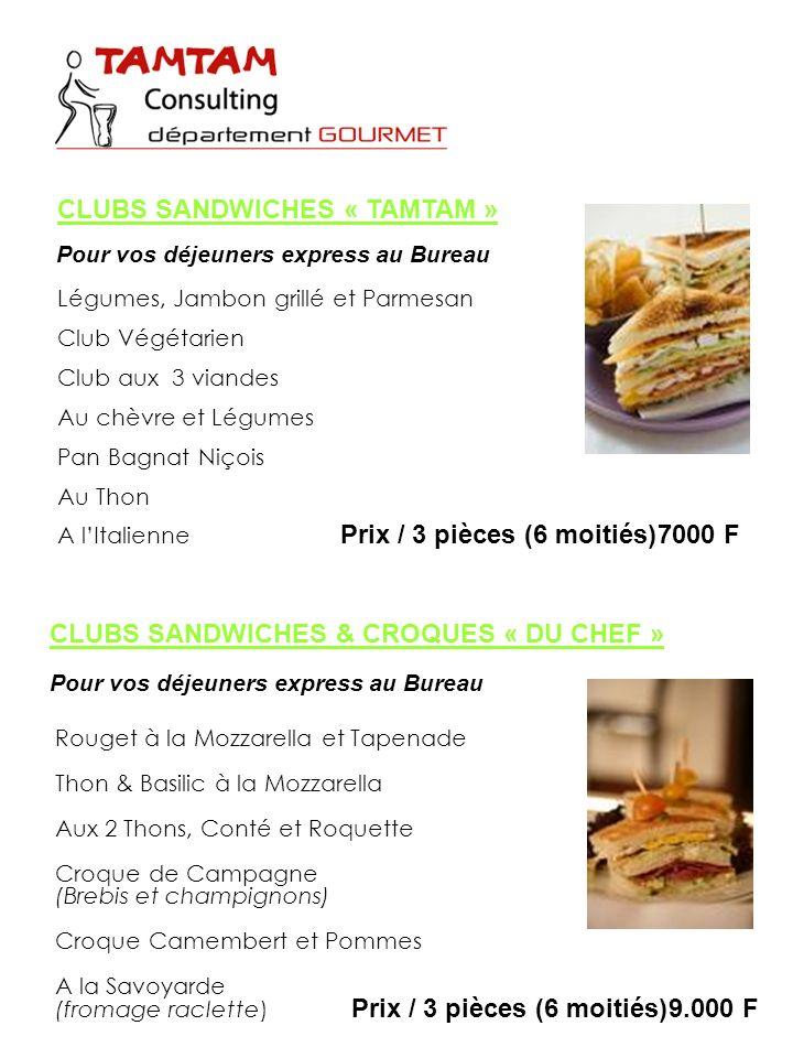 CLUBS SANDWICHES « TAMTAM »