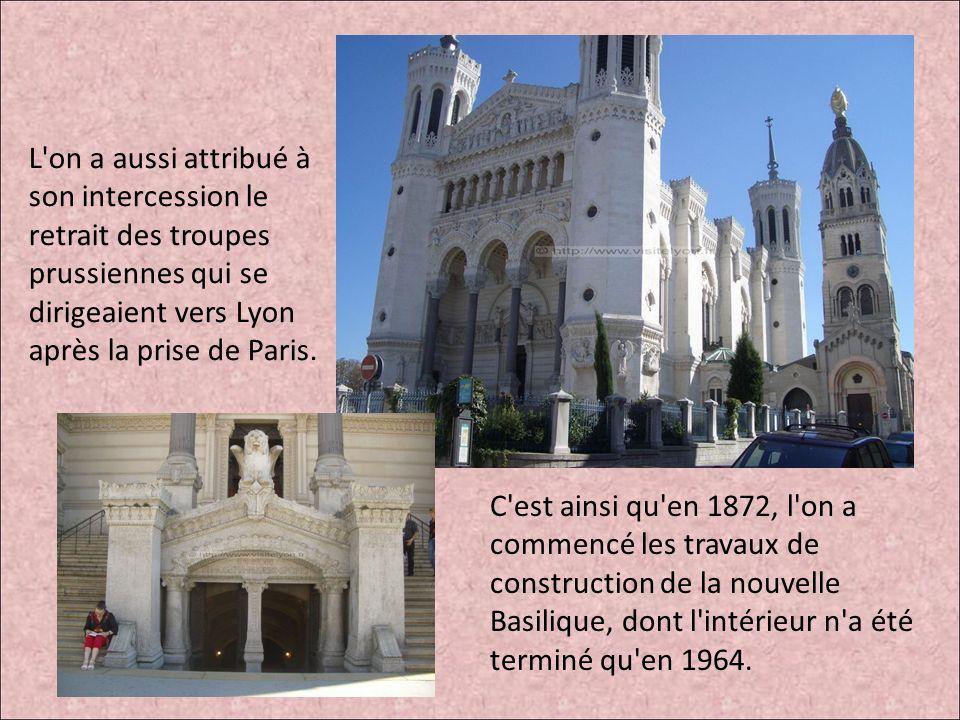 L on a aussi attribué à son intercession le retrait des troupes prussiennes qui se dirigeaient vers Lyon après la prise de Paris.