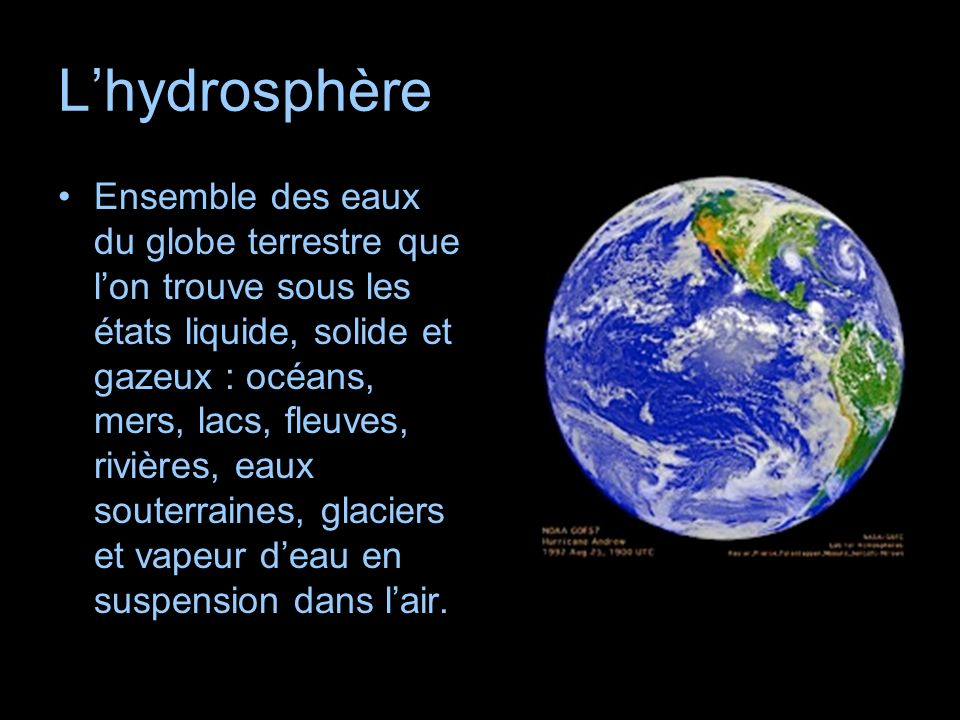 L'hydrosphère
