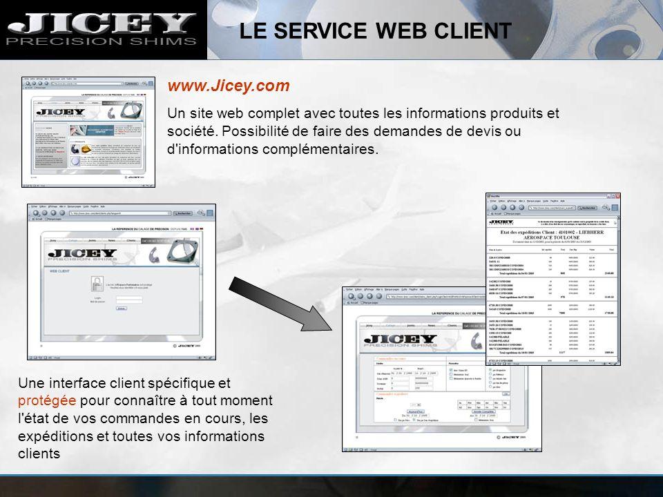 LE SERVICE WEB CLIENT www.Jicey.com