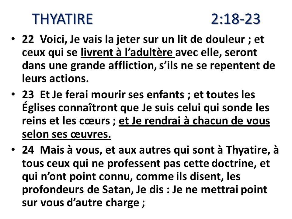 THYATIRE 2:18-23