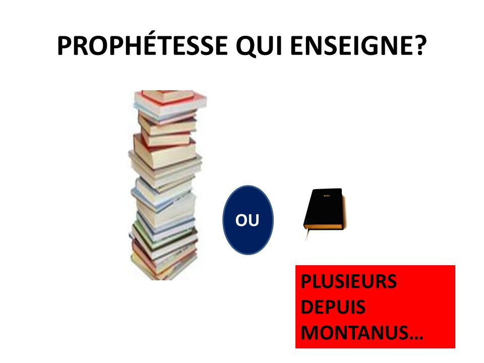 PROPHÉTESSE QUI ENSEIGNE