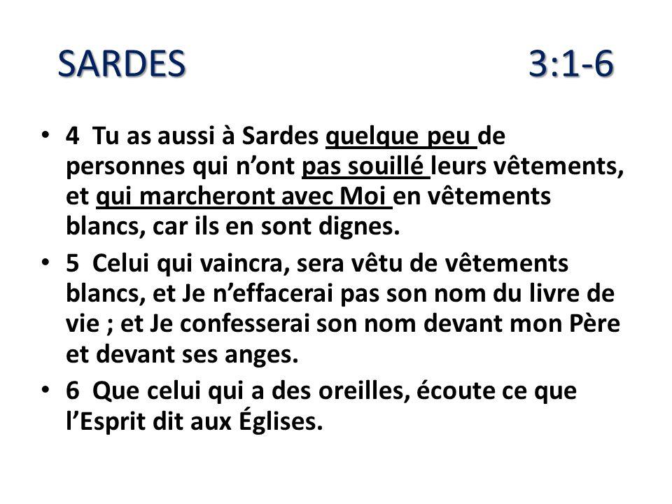 SARDES 3:1-6