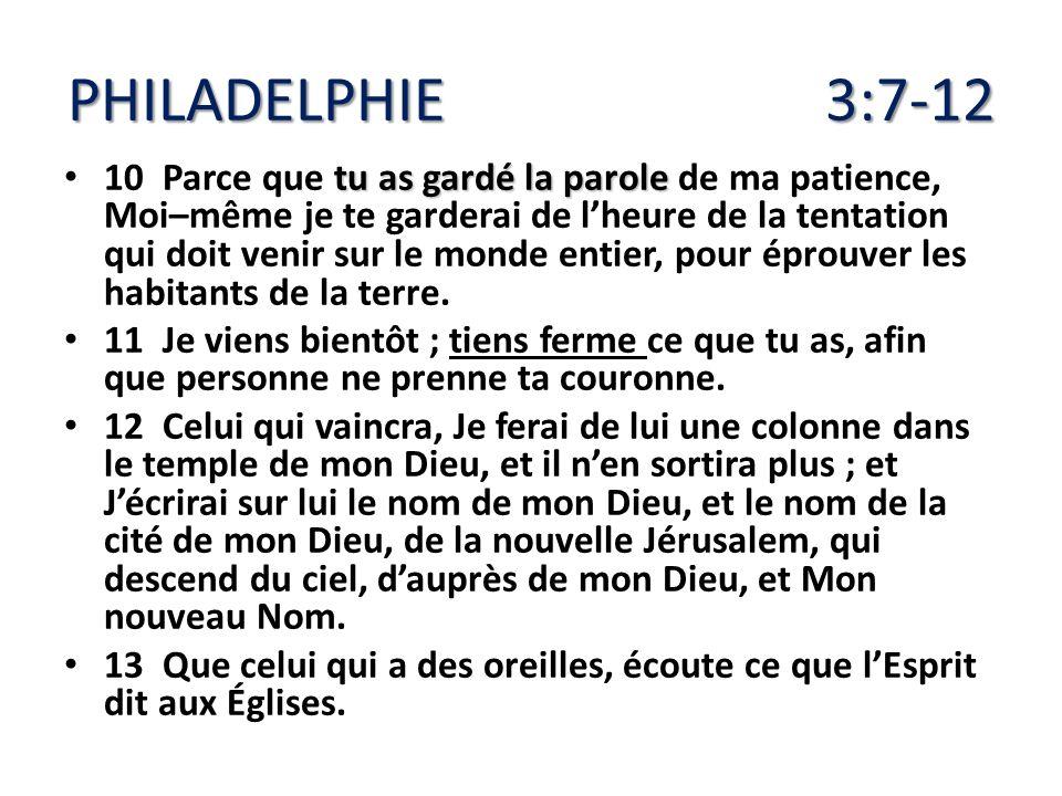 PHILADELPHIE 3:7-12