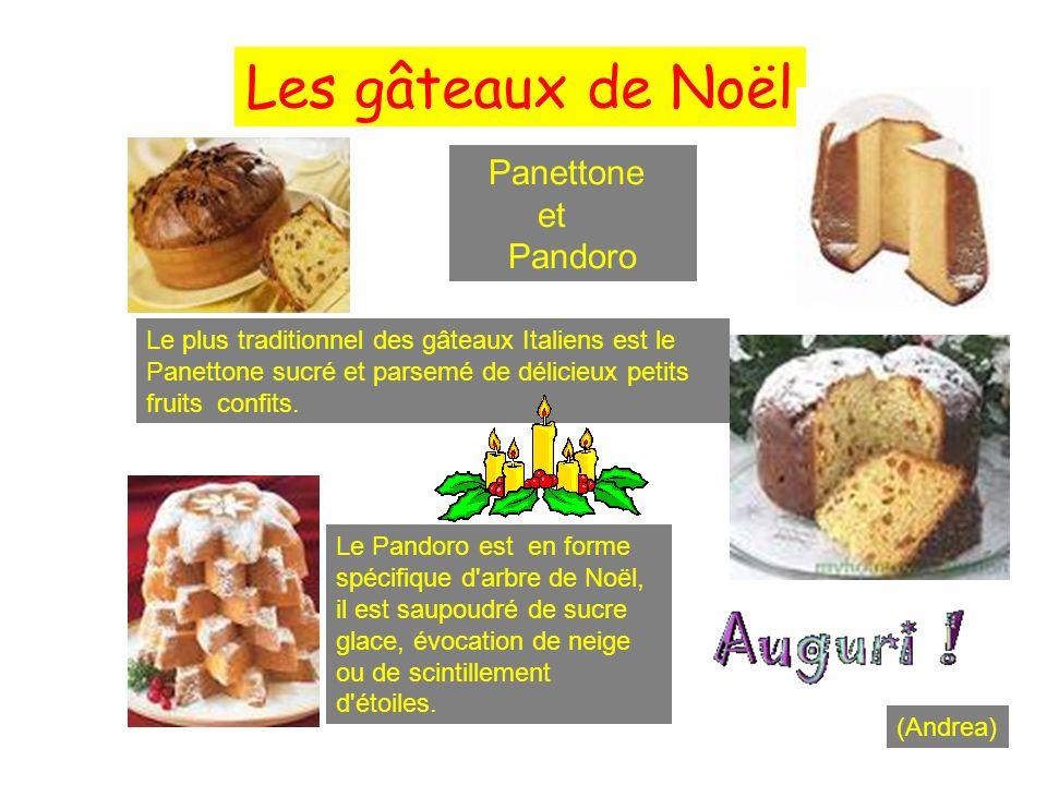 Les gâteaux de Noël Panettone et Pandoro