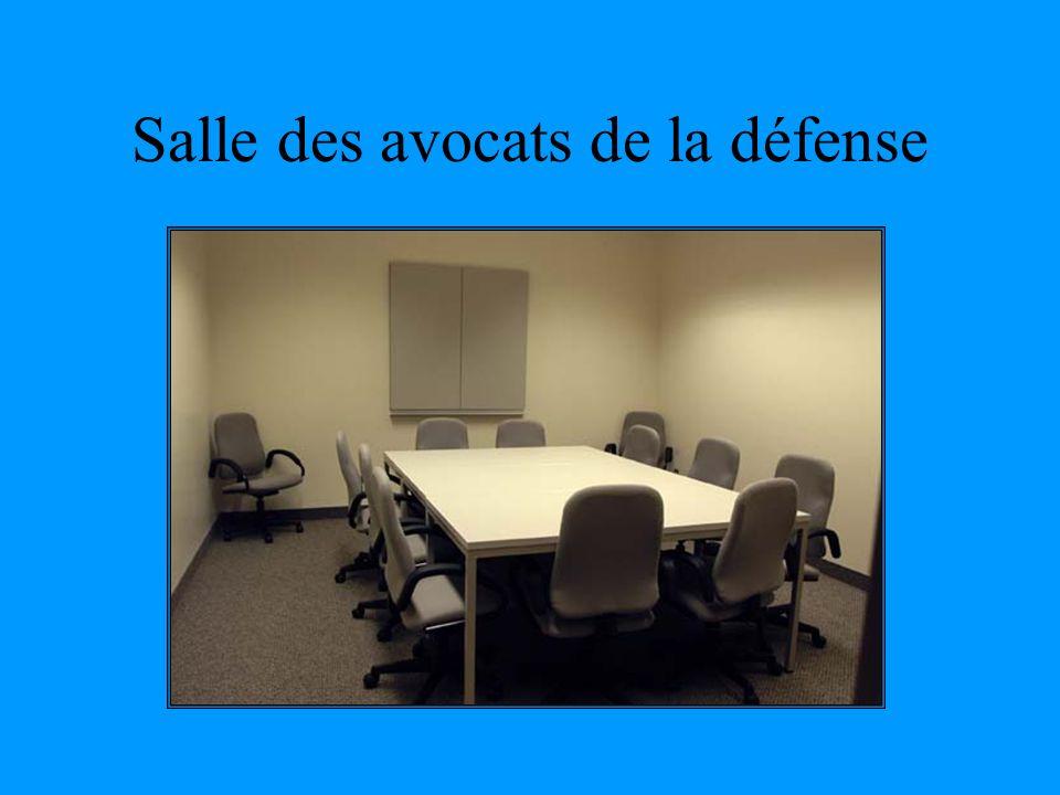 Salle des avocats de la défense