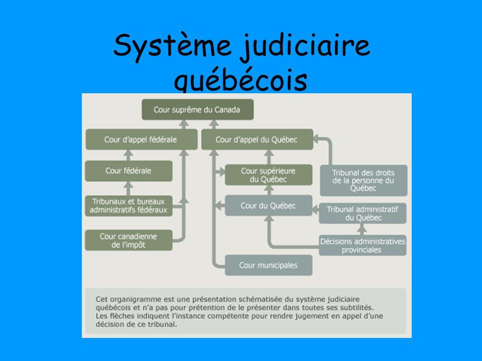 Système judiciaire québécois