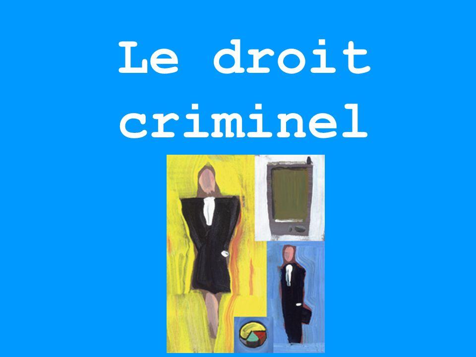 Le droit criminel