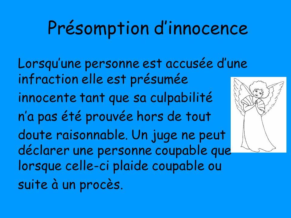 Présomption d'innocence