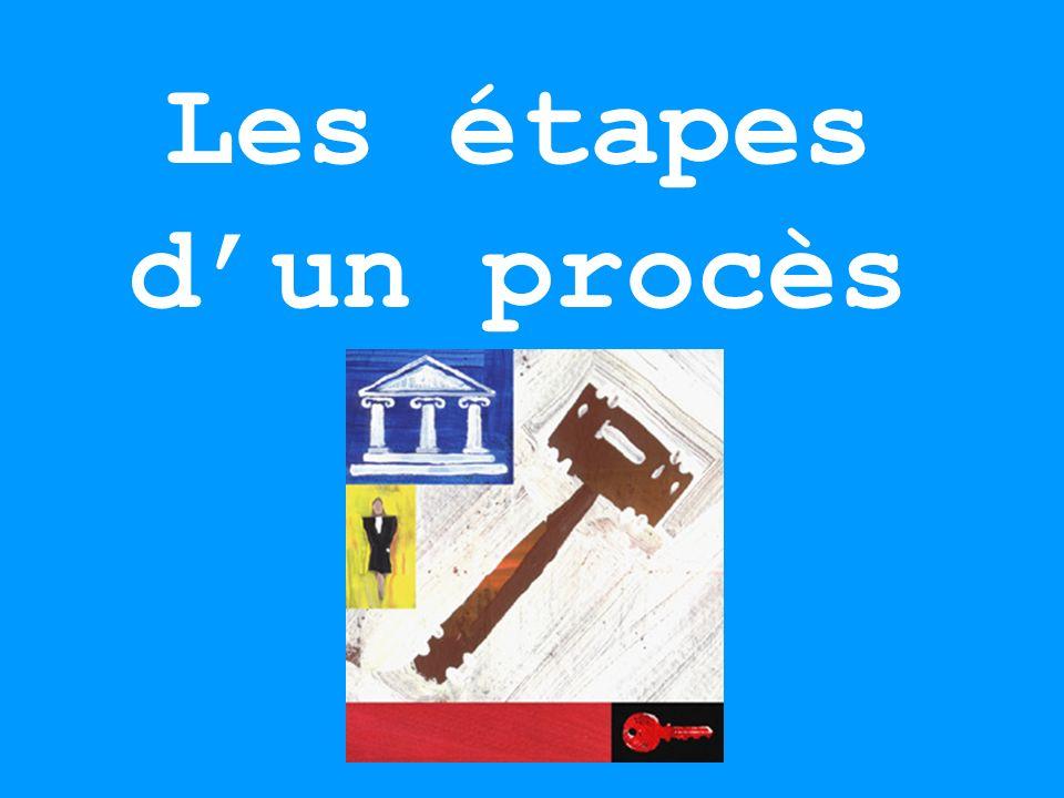 Les étapes d'un procès