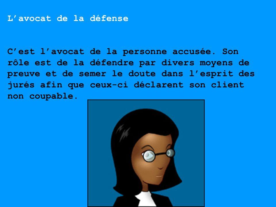 L'avocat de la défense