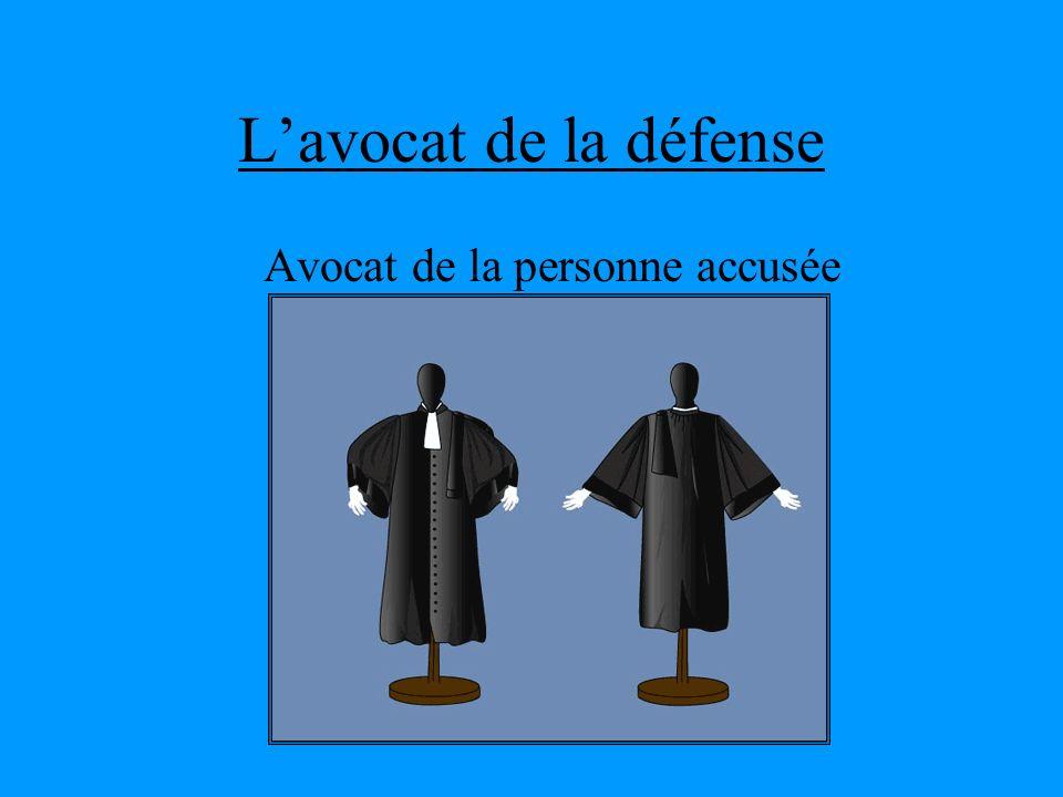 Avocat de la personne accusée