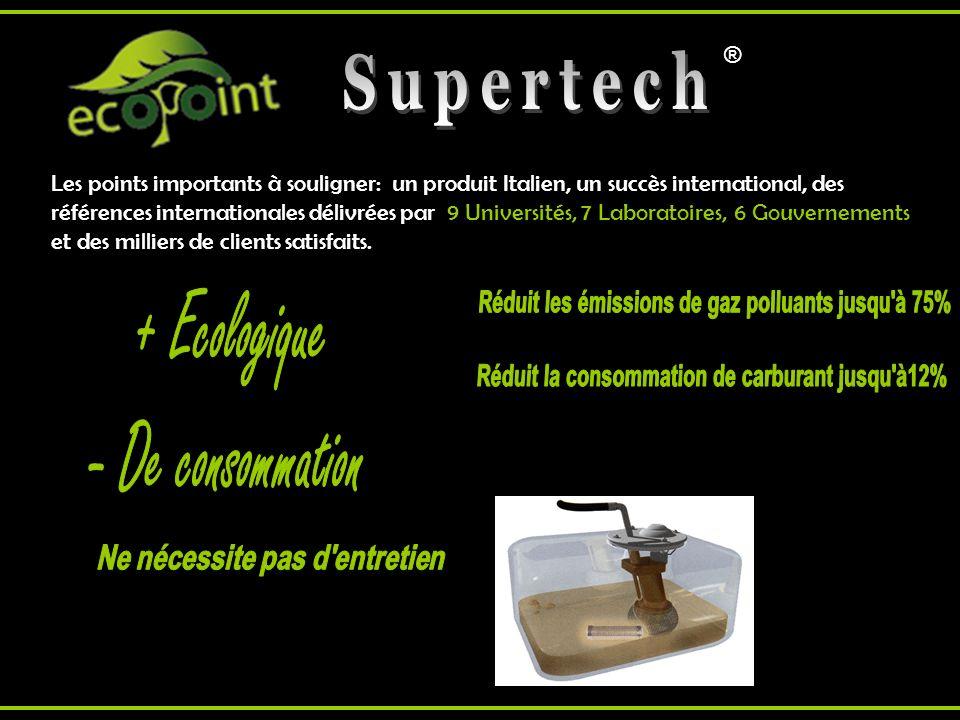 Supertech + Ecologique - De consommation Ne nécessite pas d entretien