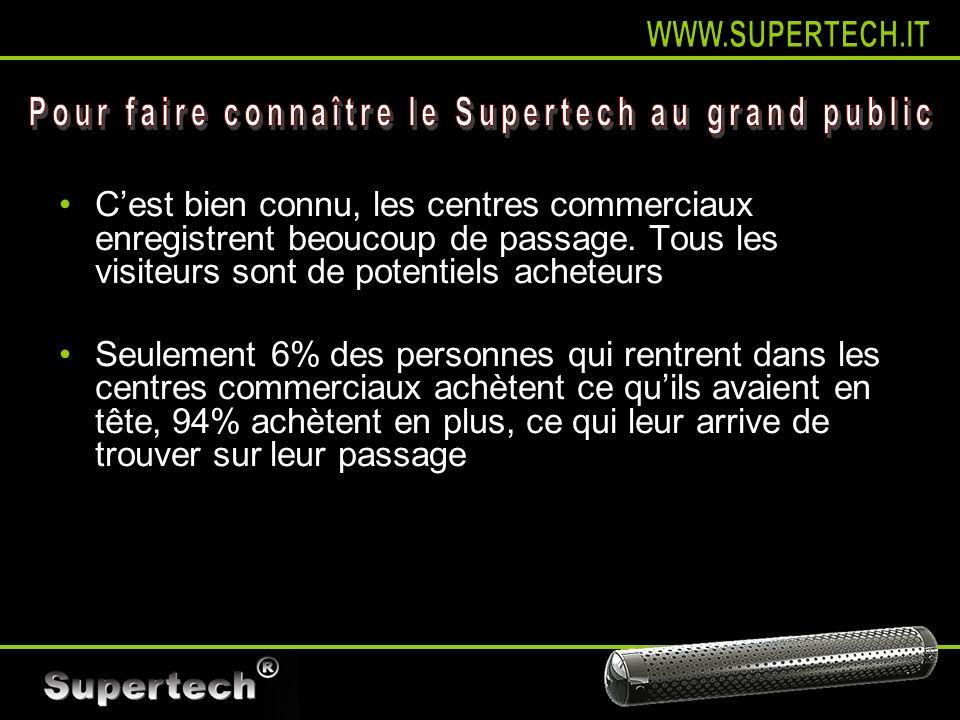Pour faire connaître le Supertech au grand public