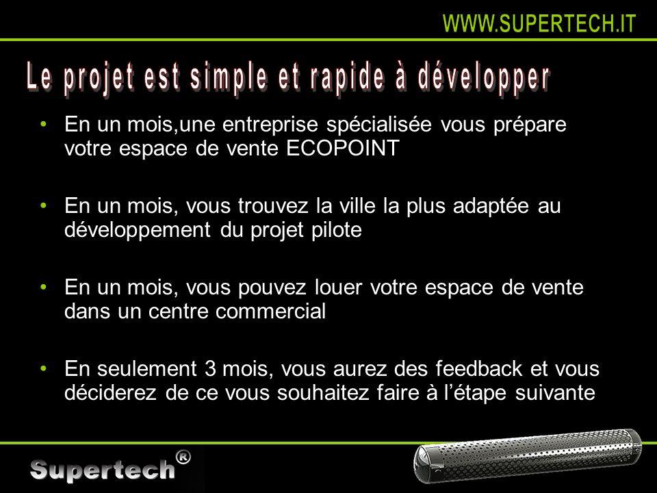 Le projet est simple et rapide à développer