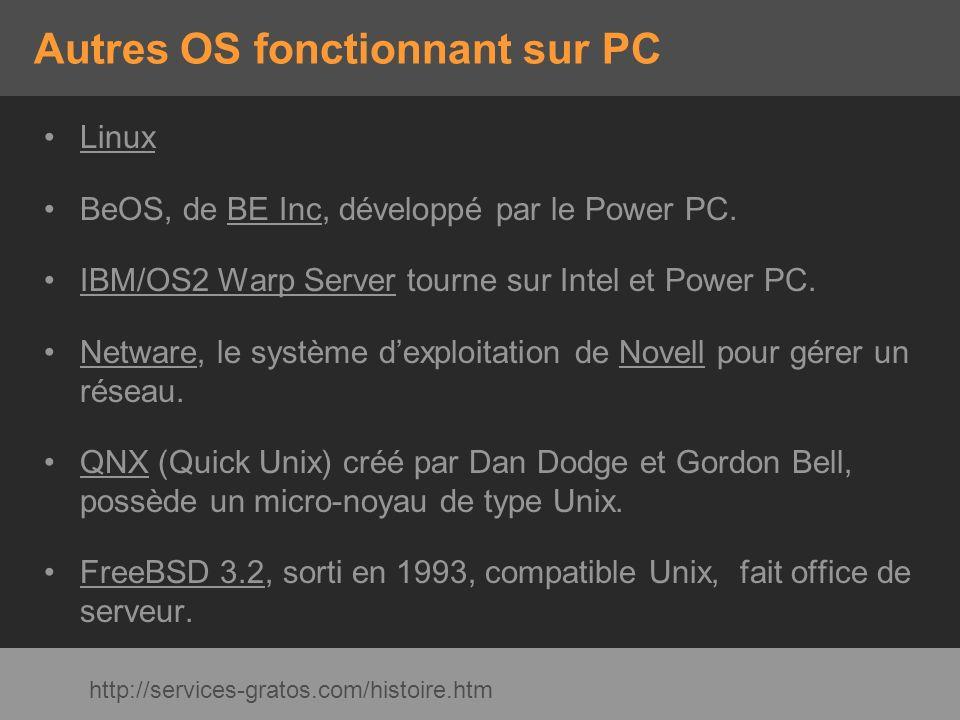 Autres OS fonctionnant sur PC