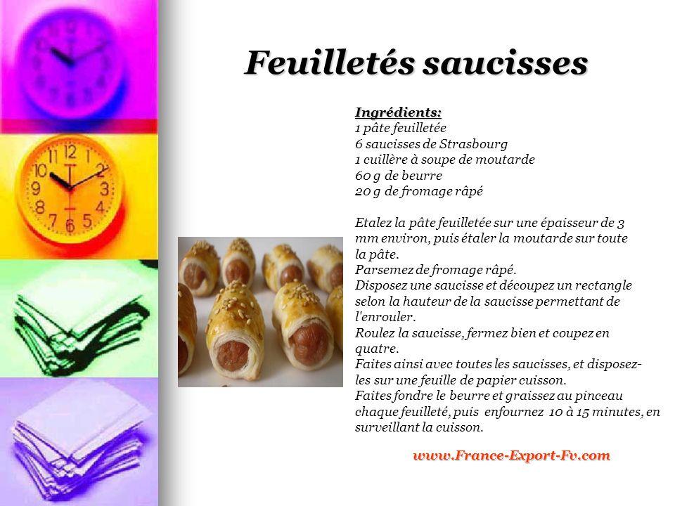Feuilletés saucisses Ingrédients: 1 pâte feuilletée