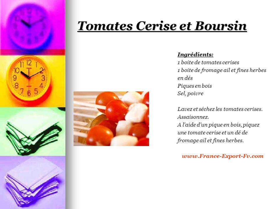 Tomates Cerise et Boursin