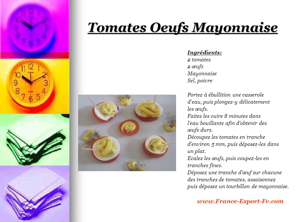 Tomates Oeufs Mayonnaise