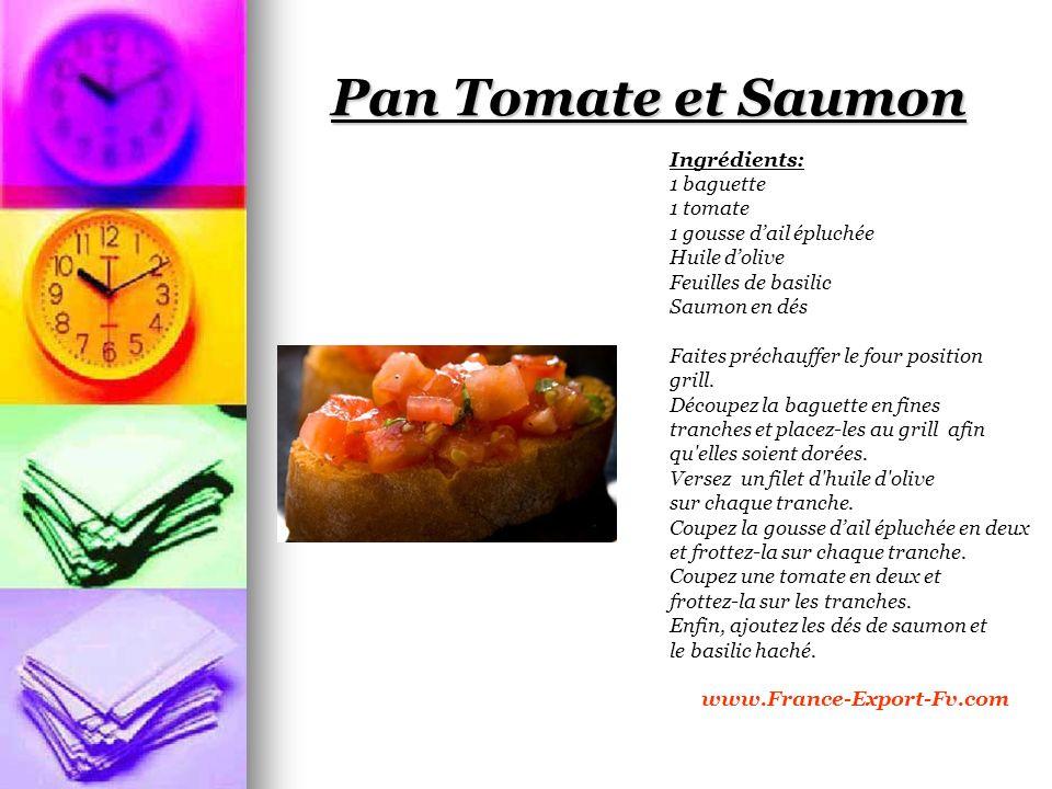 Pan Tomate et Saumon Ingrédients: 1 baguette 1 tomate