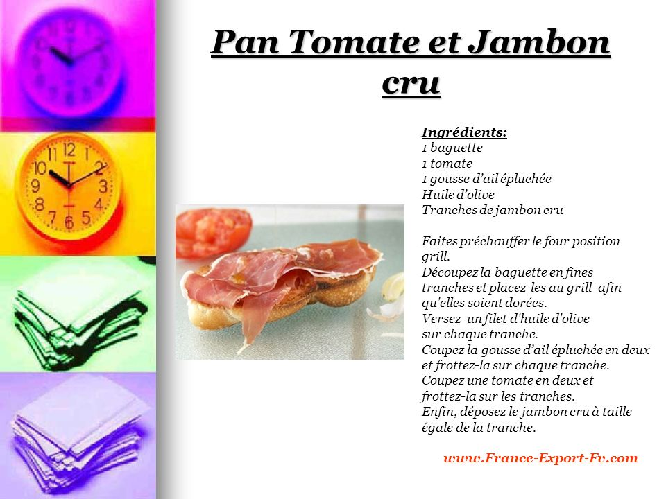 Pan Tomate et Jambon cru