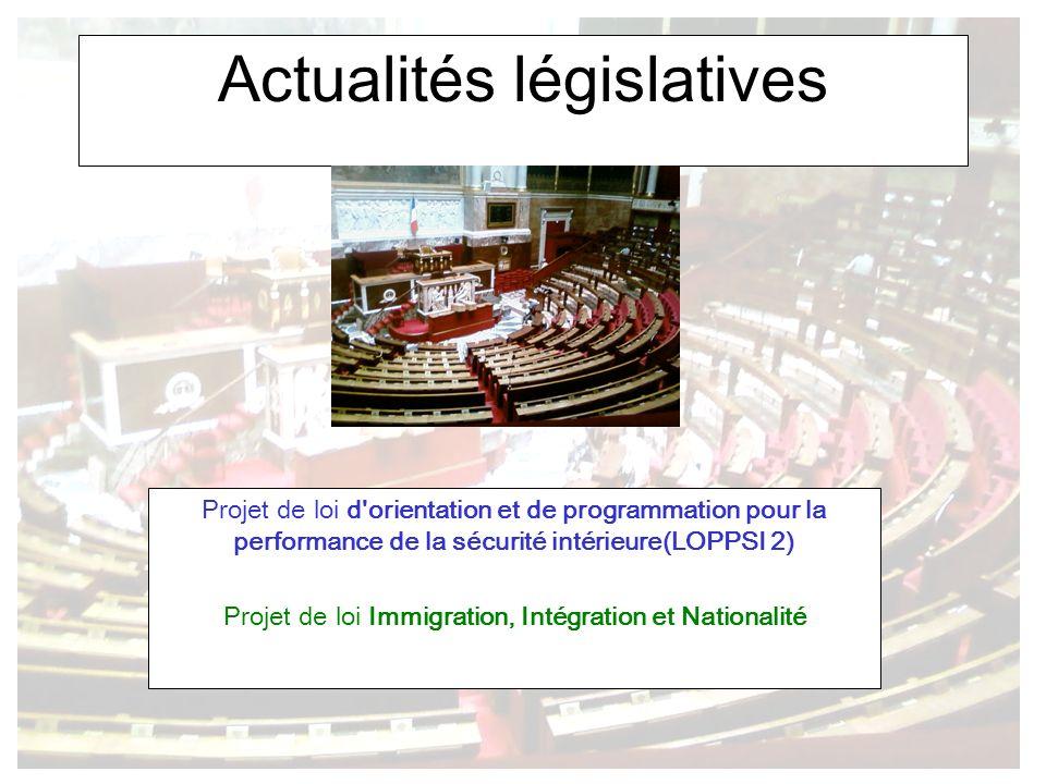 Actualités législatives