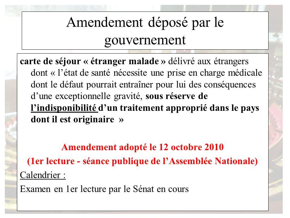 Amendement déposé par le gouvernement